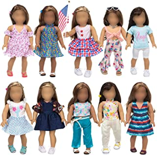 ZITA ELEMENT Fashion 23 Pcs American 18 Inch Girl Doll Clothes Dress with Accessories for 18 Inch My Our Life Generation D...