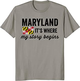 Vintage Maryland It's Where My Story Begins T Shirt