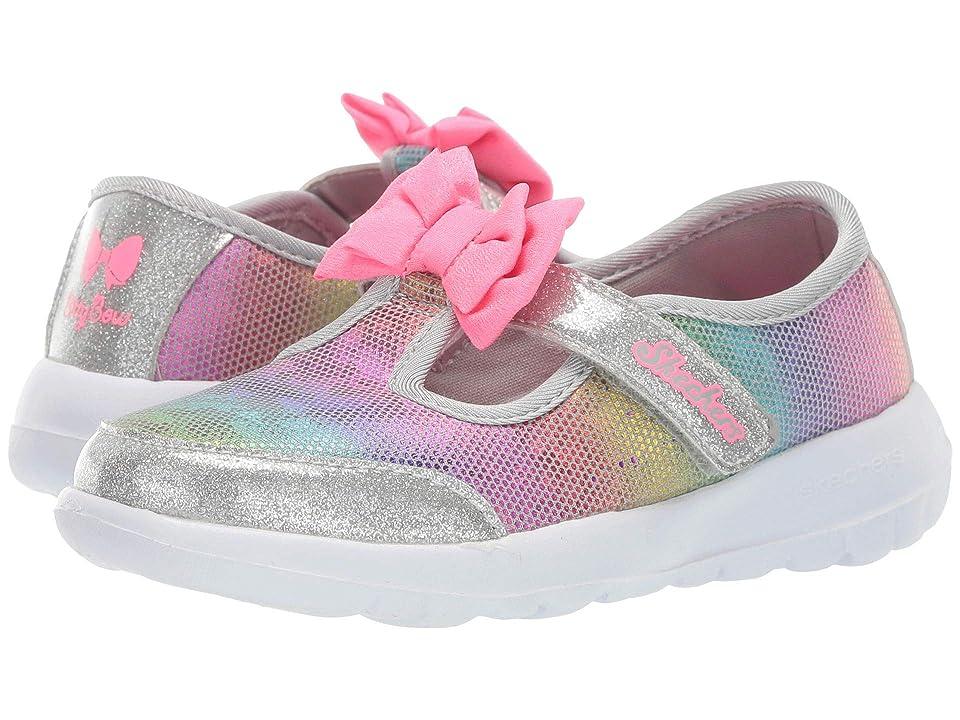 SKECHERS KIDS Go Walk Joy Bitty Glam 81179N (Infant/Toddler/Little Kid) (Gray) Girls Shoes