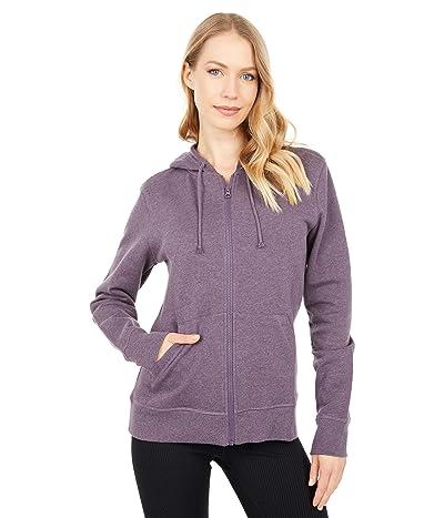 PACT Organic Cotton Classic Zip Hoodie (Thistle Heather) Women
