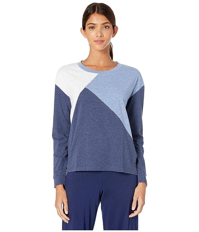 Splendid Colorblock Lounge Pullover (Color Block Blue/White) Women