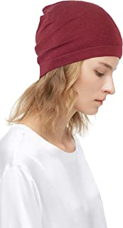 LilySilk 100% Silk Knitted Slouchy Beanie Breathable Thin Women Men Stretch Skull Cap Soft Comfortable
