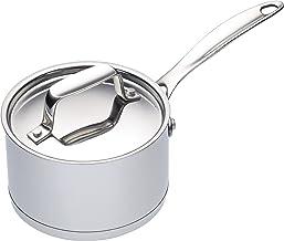 KitchenCraft MasterClass Kookpan, klein, roestvrij staal, voor sauzen, desserts, boter en dips, mini-kookpan, 8,5 cm