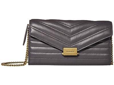 AllSaints Justine Chain Wallet (Graphite Grey) Handbags
