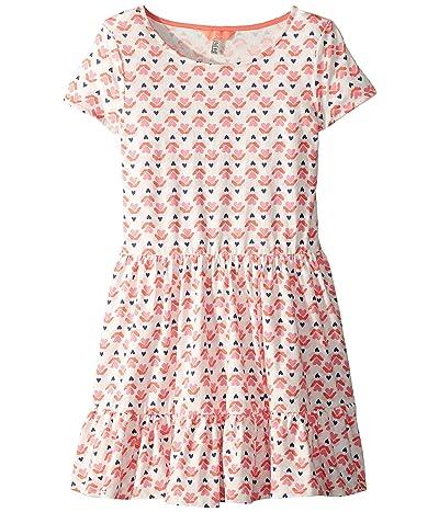 Joules Kids Coco Dress (Toddler/Little Kids/Big Kids) (Cream Heart Geo) Girl
