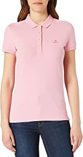 GANT Dames Contrast Collar Ss Pique Polo Shirt