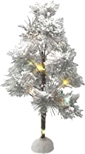 BANBERRY DESIGNS White Artificial Tree - LED Lighted Rice Lights - Snow-Covered Branches