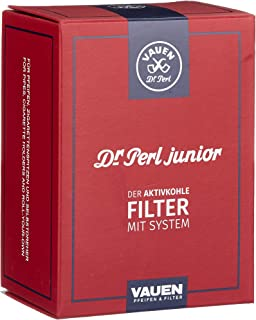 Dr Perl Junior Active Charcoal Filter Carbon Red Large–9mm–Ju 4x 180–10x 8x 5cm