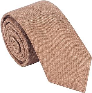 "Lovacely Men's Cotton Skinny Necktie 2.6"" Wide Faux Suede Handmade Solid Color Ties"