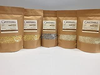 Homestead Gristmill — Organic, Non-GMO, Stone-ground Corn Grits Variety 5-Pack (2 YG, 2 WG, 1 BG)