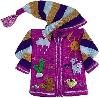 Wool Pixie Winter Jacket Festival Hoody Coat Girls Boys Children/'s//Kids 7,8,9