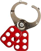 """Brady Steel Lockout Hasp With Tab, 1-1/2"""" Inside Jaw Diameter - 105719"""
