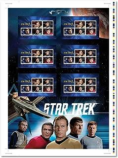 "Star Trek 50th Anniversary - Captain Kirk, Spock, Scotty, Doctor Leonard ""Bones"" McCoy and Kor - Collectible Uncut Press Sheet Postage Stamps Canada"