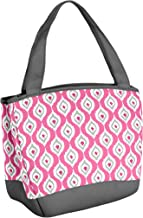 "Fit & Fresh 926FFST738 Hyannis Insulated Lunch Bag with Reusable Ice Pack Teardrop, 11.5"" x 6"" x 10.5"", Pink Tear Drop"