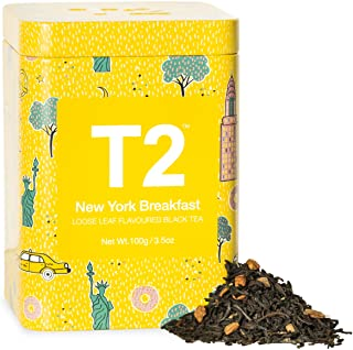 T2 Tea New York Breakfast Breakfast Black Tea, Loose Leaf Tea in Limited Edition Tin, 100g