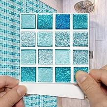 10cmx10cm 15 stks Kristal Mozaïek Tegel Sticker Zelfklevende Waterdichte Keuken Vinyl Muurtattoo Badkamer tegels Stickers-...