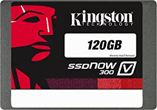 Kingston Digital 120GB SSDNow V300 SATA 3 2.5 (7mm height) Solid State Drive (SV300S37A/120G) (Renewed)