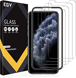 EGV 4 Pack Screen Protector for iPhone 11 Pro/iPhone Xs/iPhone X 9H HD Clear Tempered Glass, Case Friendly, Alignment Fram...