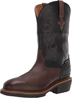 "Lucchese Bootmaker Men's Welted Western 12"" Work Boot: Waterproof-Wide Square Toe Construction"