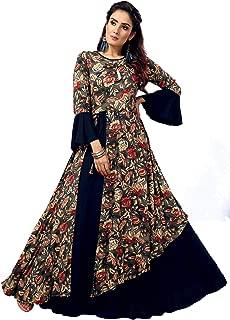 Madhuram Textiles Women's Printed Rayon A-line Long Kurti
