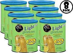 (8 Pack) 4C Light Green Tea Iced Tea Mix, 13.9 oz