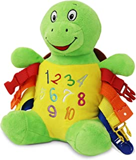 Buckle Toys - Interactive Learning Toy for Children and Travel - Bucky Turtle