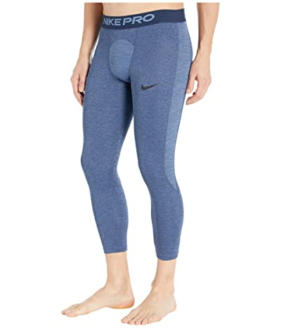Nike Nike Pro Tights 3/4 (Obsidian/Ocean Fog/Black) Men