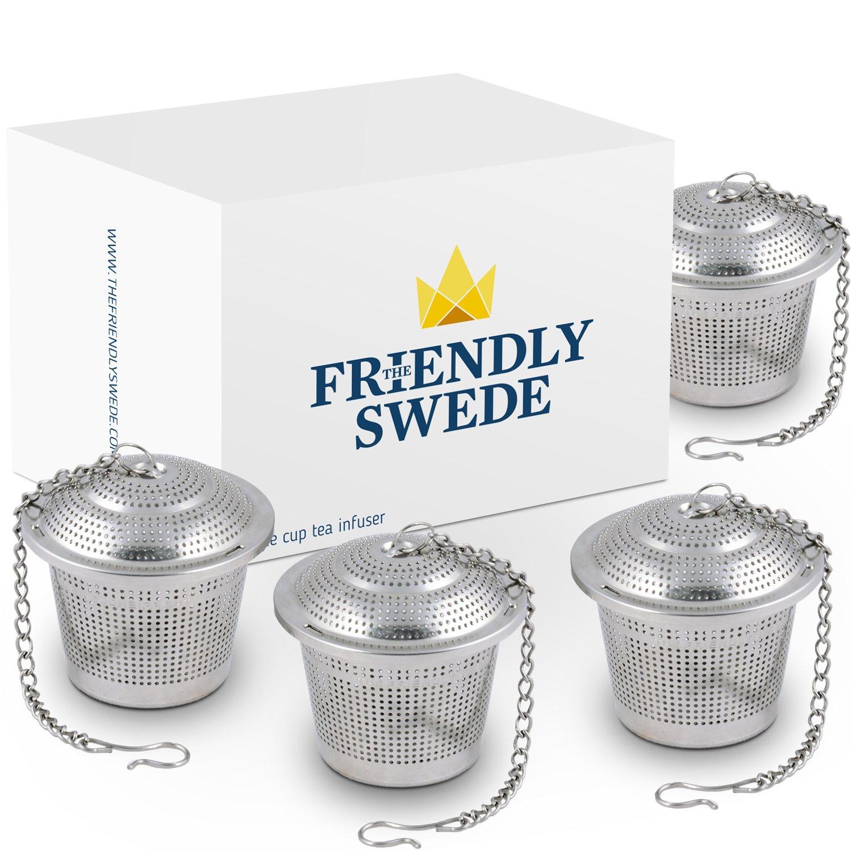 The Friendly Swede Infusor de Té en Acero Inoxidable (Pack de 4 ...