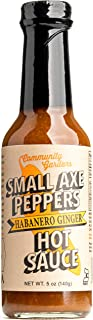 Small Axe Peppers Habanero Ginger Hot Sauce, 5 oz- All NATURAL, VEGAN, Kosher, non-GMO, Community Garden Grown Habanero Pepper Gourmet Hot Sauce, Featured on HOT ONES!