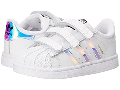 adidas Originals Kids Superstar Metallic CMF INF (Toddler) (White/Metallic Silver) Girls Shoes