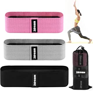 Zdream Resistance Bands(3 Pack Set) for Legs and Butt, Exercise Bands Leg,Set Booty Bands Hip Bands,Wide Workout Bands Res...