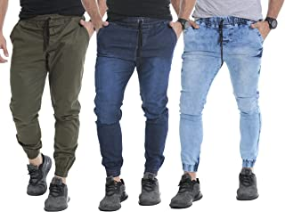 Kit 03 Calças Jogger Masculina Jeans Sarja