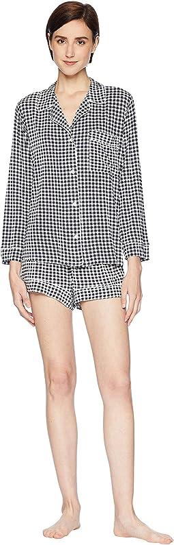 Bettina The Long Sleeve/Shorts PJ Set
