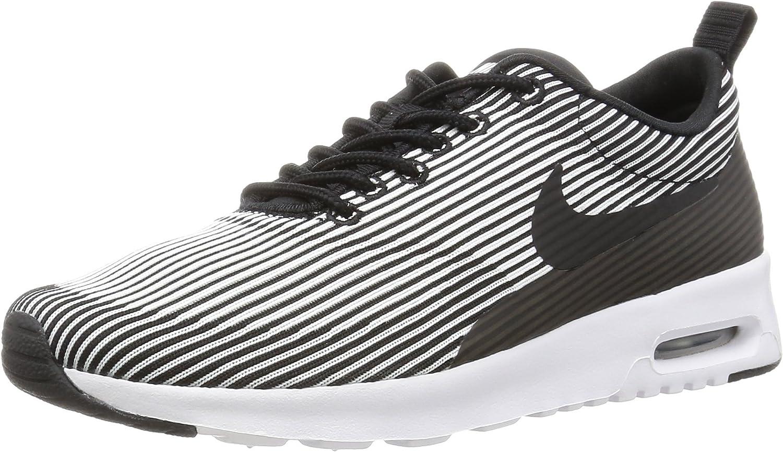 Nike Women's WMNS Air Max Thea KJCRD, Black WhiteMetallic Silver