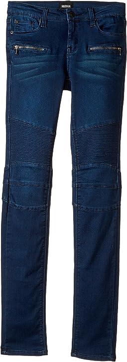 Hudson Kids - Moto Fit Skinny Fit Jeans in Nile (Big Kids)