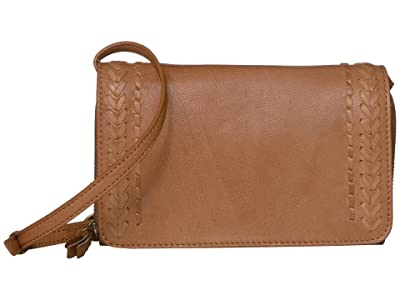 Lucky Brand Orby Convertible Wallet (New Cognac) Handbags