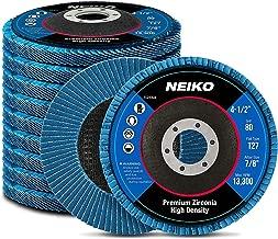 Neiko 11256A High Density Jumbo Premium Zirconia Flap Disc   4.5