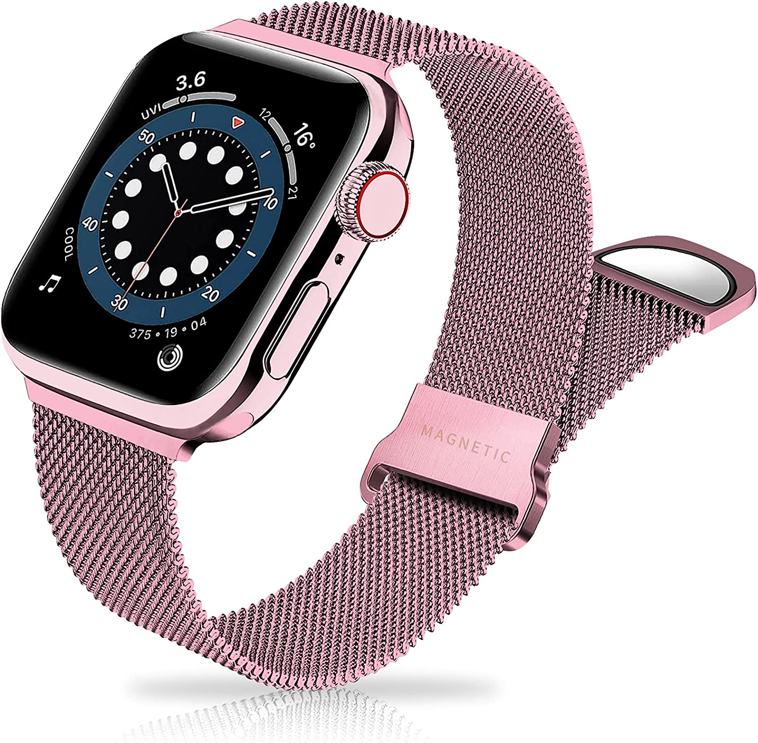 Metal Band Stainless Steel Mesh Magnetic Compatible with Apple Watch Bands 38mm 40mm 42mm 44mm, Milanese Sport Clasp Loop Women Men Compatible for iWatch Series SE/6/5/4/3/2/1