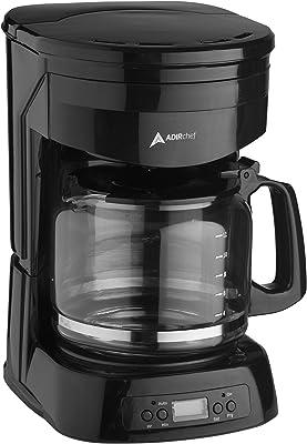 AdirChef Cafetera programable de 12 tazas con temporizador de encendido automático y apagado automático de 2 horas