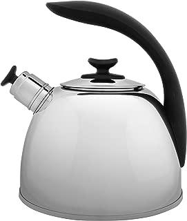 Berghoff Lucia 18/10 Stainless Steek Whistle Kettle, 2.6qt, Tea Coffee Kettle - Silver