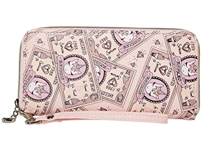 OMG! Accessories Money Print Wallet (Pink) Handbags