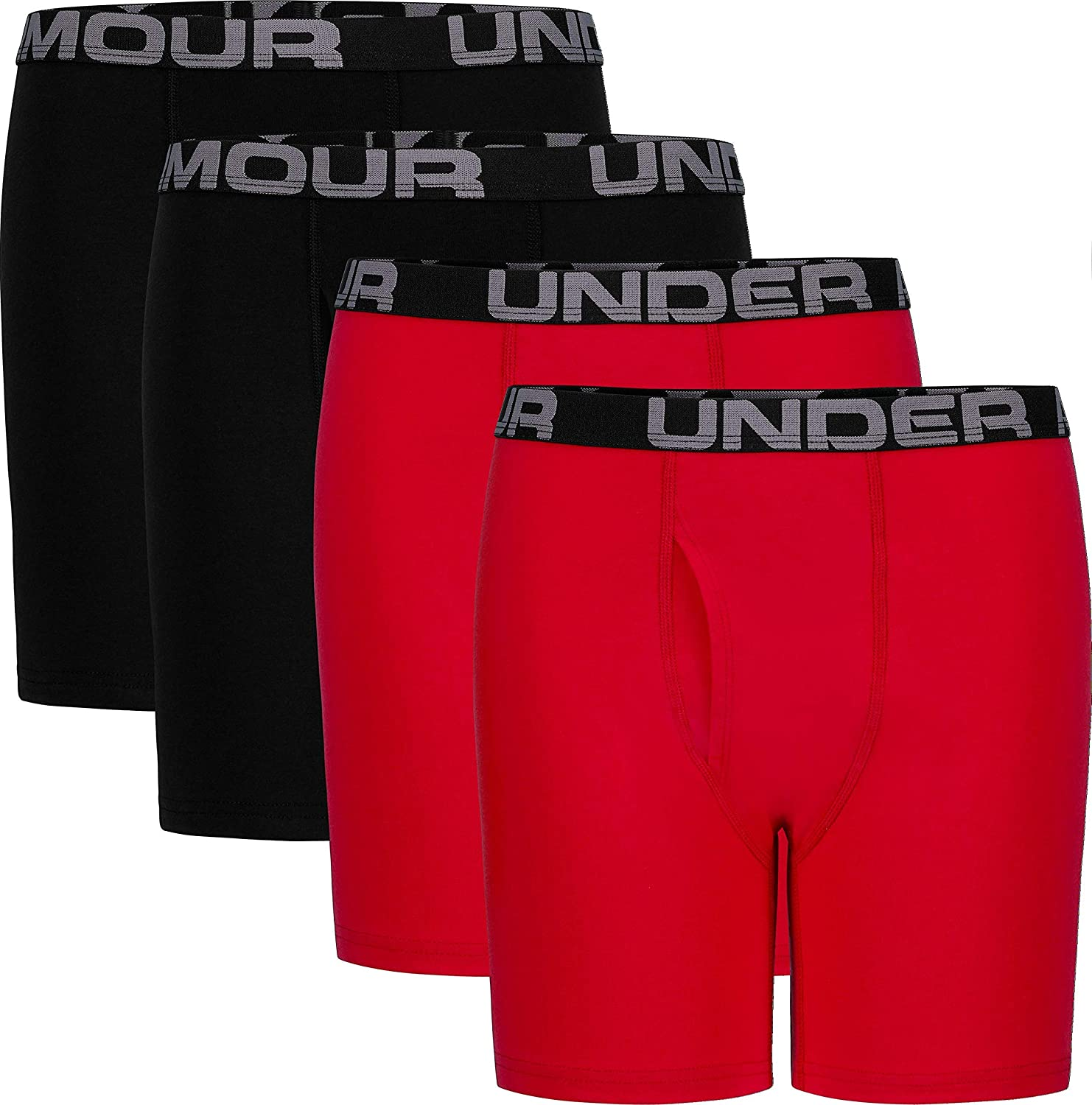 Under Armour Boys Big Charged Cotton Stretch Boxer Jock