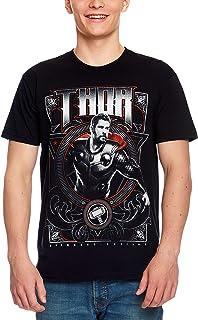 Camiseta Avengers para Hombre Thor Endgame Marvel Algodón Negro