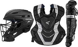 EASTON ELITE X Baseball Catchers Equipment Box Set, 2021, Helmet, Chest Protector with NOCSAE Commotio Cordis Foam, Leg Gu...