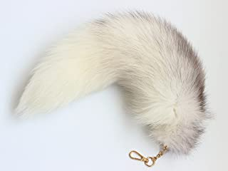 Fosrion Real Fox Tail Fur Keychain Clasp Fashion Charm Cosplay Toy