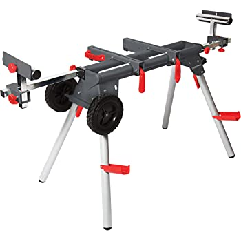Miter Saw Stand Sliding Arms 750 lb Capacity Universal Powdercoated Foldable