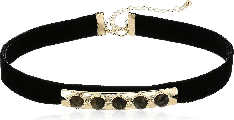 Danielle Nicole Marcks Black Choker Necklace