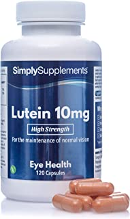 Luteina 10 mg - 120 capsule - Adatto ai vegani - 4 mesi di trattamento - SimplySupplements