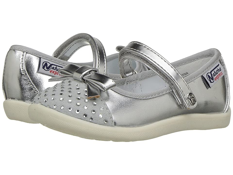Naturino Express Silvana (Toddler/Little Kid) (Silver) Girls Shoes