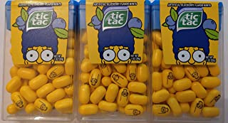 Marge Simpson Blueberry Flavor Tic TACS, Limited Edition - 3 Pack
